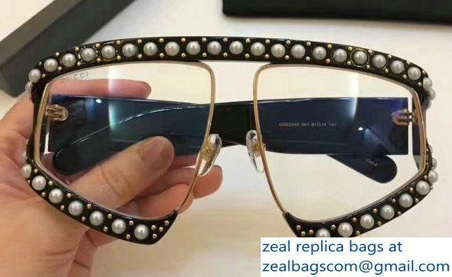 8c764200cbb5d Gucci Rectangular-Frame Acetate Sunglasses With Pearls 494329 01 2018