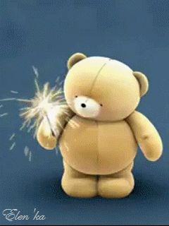 Теддик сс феерверком - анимация на телефон №623648