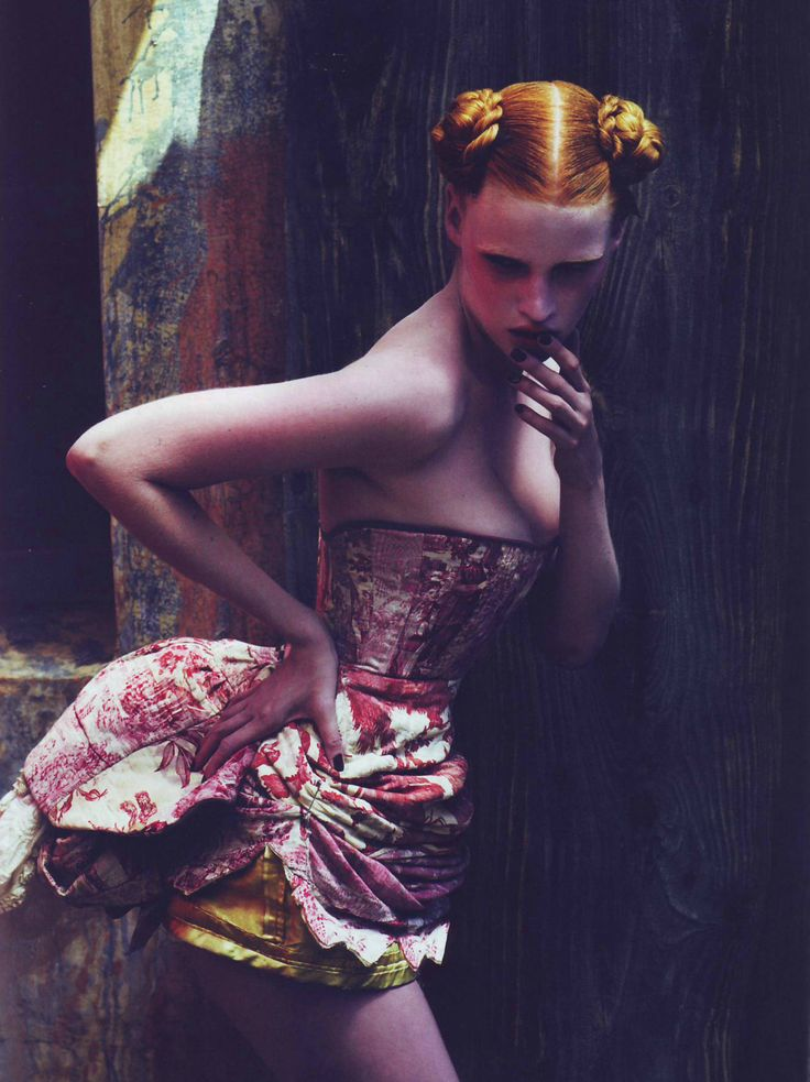 'Peek-a-boo', Lara Stone & Megan Collision by Mert and Marcus for Pop Magazine AW 2007.