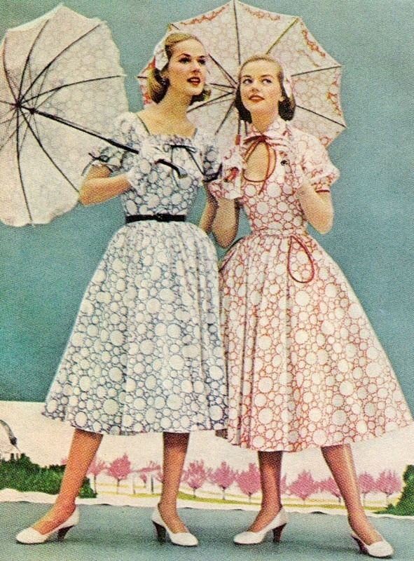 1950s Housewife Dresses Hairstyles And Lingerie