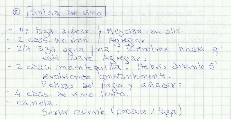 SALSA DE VINO   #DULCE #SALSAS #SALSA #VINO