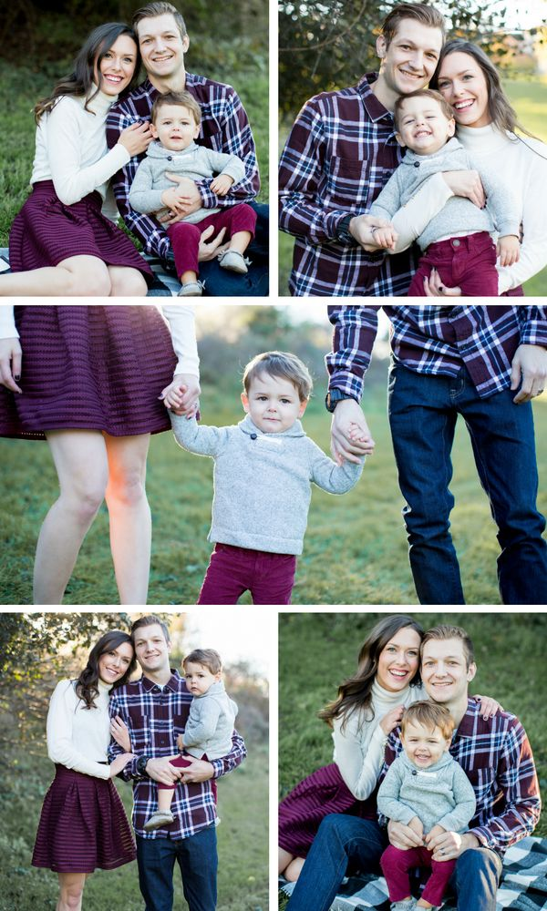 How To Get The Perfect Family Photo | Caffeine & Cuddles Blog | Pittsburgh Pennsylvania Family Photography. Family of Three Poses. Outdoor fall family portraits. Fall family pictures. Burgundy family photos. What to Wear famiily photos. Fall color schemes. Maroon family pictures. Maroon fall outfits. Family Picture Tips. Tips for the Best Family Photo. Christmas Card Ideas. Family Holiday Pictures Family photography