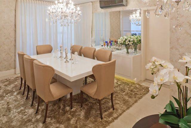 15 Salas de jantar com lustres clássicos - veja ambientes lindos!
