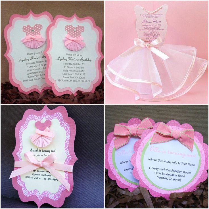 Ballerina Party Invitation Ideas