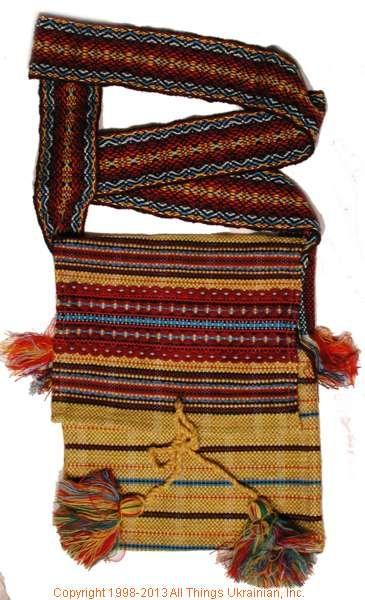 Handmade and hand woven Ukrainian over the shoulder handbag # HB13-005 Sold on  https://www.allthingsukrainian.com/Cloth/handbags/Thumb/Page1.php