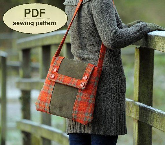 Kersey Tye Messenger Bag - PDF Pattern by Charlie's Aunt Designs #sewing #vintagesewing