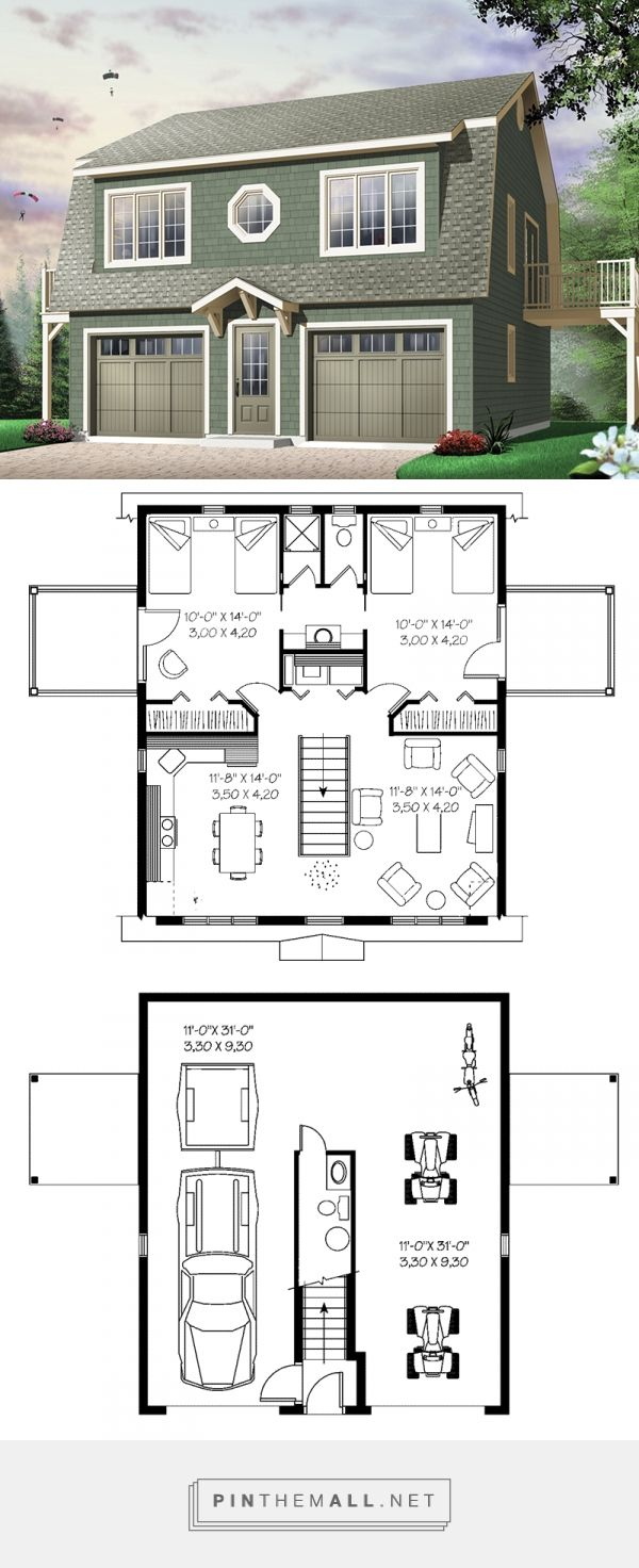 wonderful small garage apartment plans #1: Juliet Two-Car Garage Apartment Plan 113D-7501 | House Plans and More -