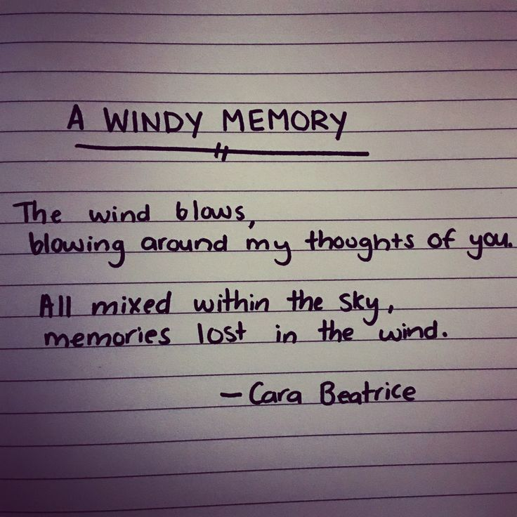 "My poem ""A windy Memory"""
