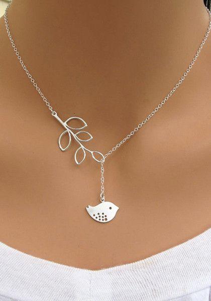 Silver Birdie Necklace - With Birdie Pendant