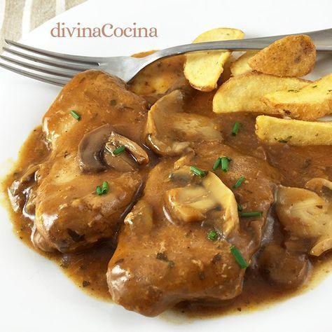 Este guiso de ternera con champiñones se puede preparar con cualquier corte de carne de ternera siempre que sea tierna y melosa.