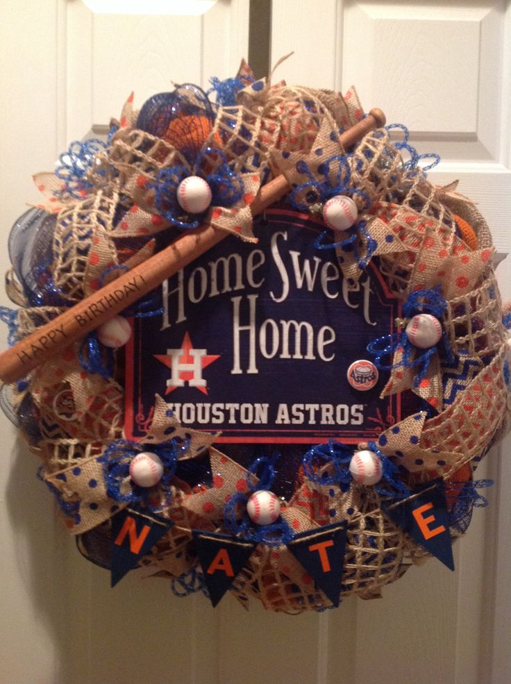 1000 Images About Baseball Wreaths On Pinterest Texas