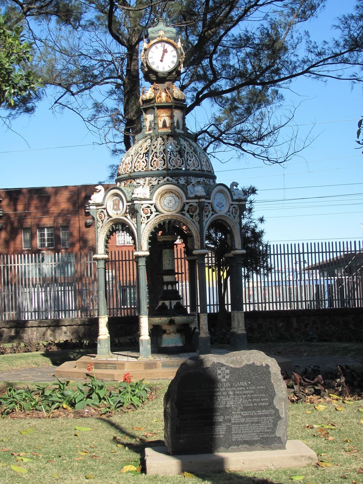 Monument to Vasco da Gama, first European to visit Durban, South Africa
