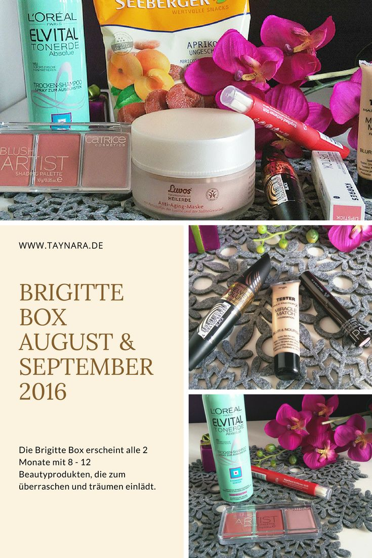 Die Brigitte Box bietet viele Produkte aus dem Make-Up und Kosmetik Bereich. Alle zwei Monate erscheint die Box mit allerhand Beauty Produkten und das volle Unboxing gibt es auf meinen Blog! #produkttest