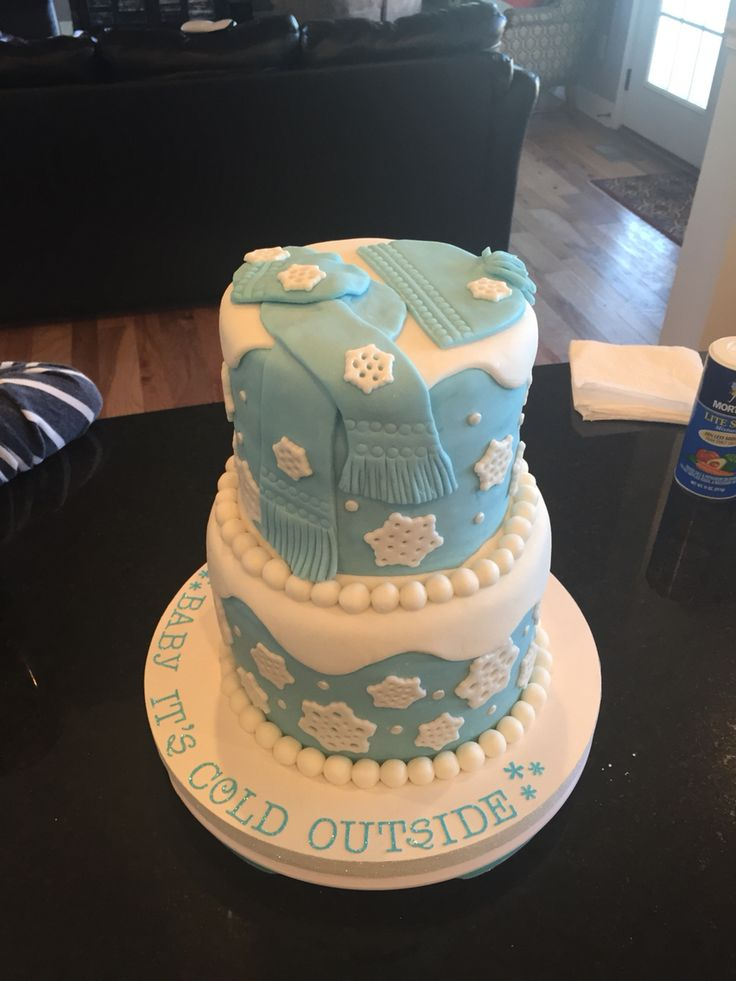 Baby It's Cold Outside fondant cake