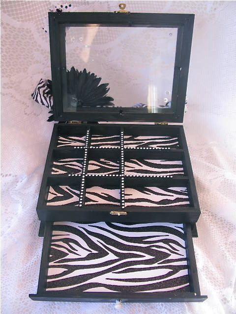 Zebra Print Jewelry Box - Scrapbook.com