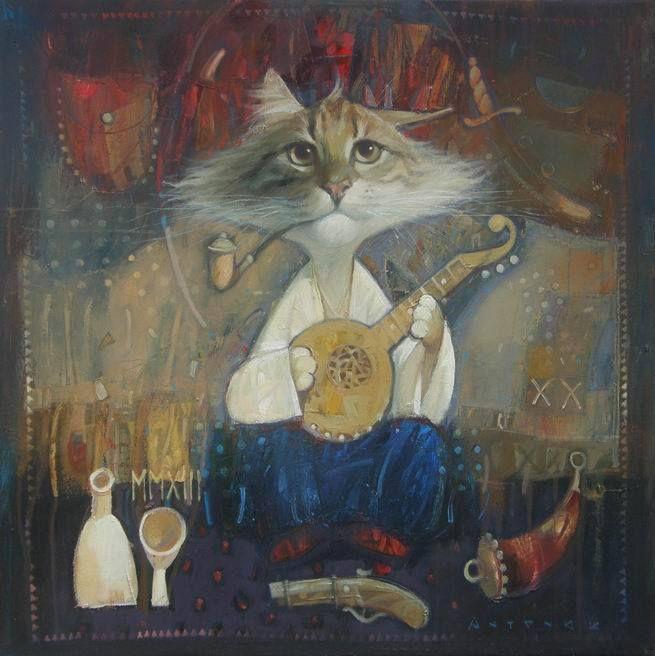 Cat, Bandura. Кіт - бандурист by Olexandr Ishchenko