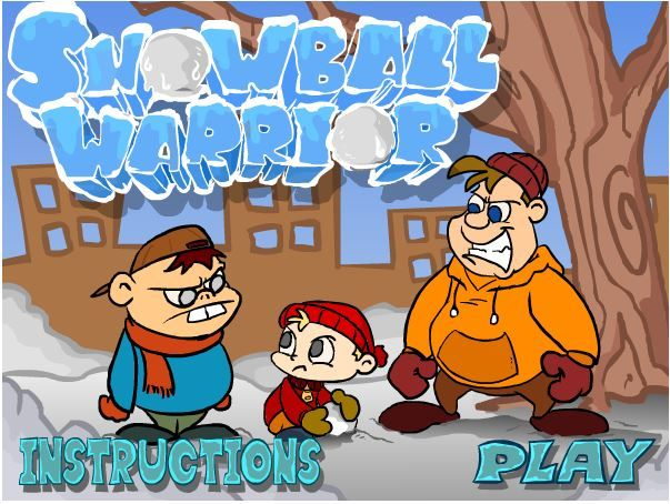 Be a true snowball warrior and make good use of the snow!