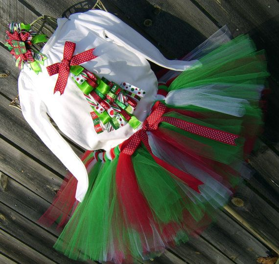 Christmas TuTu Skirt Outfit