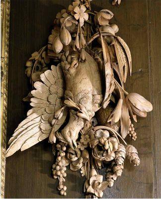 Petworth House - Grinling Gibbons Carved Room detail