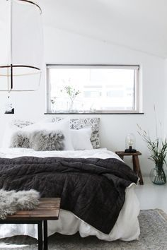 cozy scandinavian bedroom