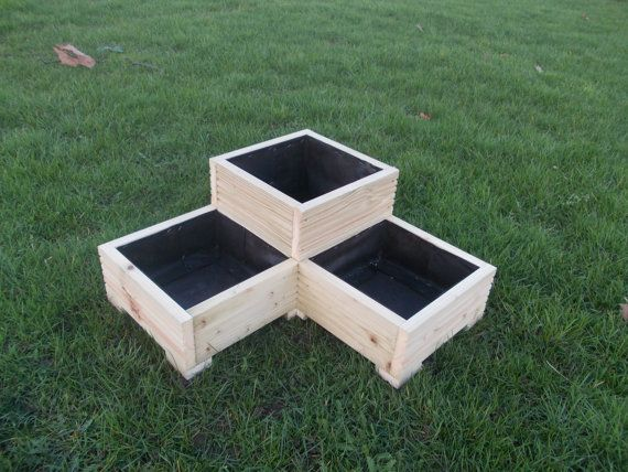 Large Wooden Planter / Window Box / Flower Planter / Herb Planter / Corner