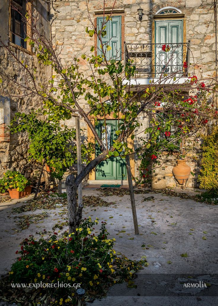 Armolia village, Southern Chios. Most of the visitors believes that Armolia village is only the area with the wonderful sculpture shops. Walk into the village and you would be surprised by the beauty that hides!