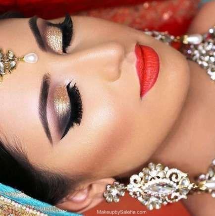 New Indian Bridal Hairstyles Tutorial Eye Makeup 44 Ideas – #bridal #Eye #hairstyles #ideas