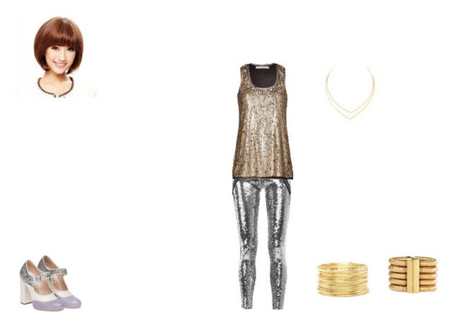 T-ARA by mayleneholm on Polyvore featuring Trina Turk, Les Chiffoniers, Miu Miu, Lana, Balmain, Forever 21 and Wigs2You