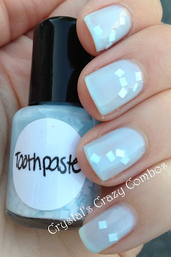 Crystal's Crazy Combos: Imperial Nail Lacquer - Toothpaste