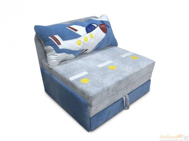 Детский диван Омега-аппликация Самолет