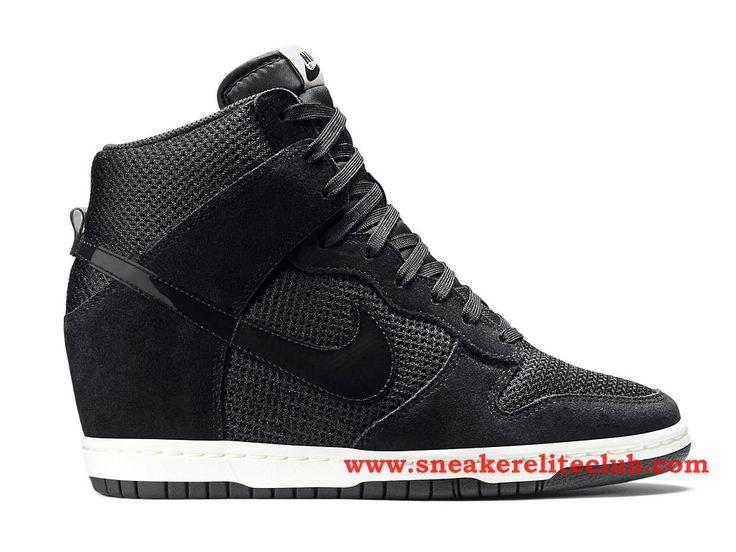 Nike Dunk Sky Hi Chaussure Pas Cher Pour FemmeFille Noir 644877_001