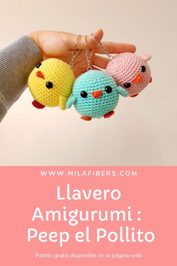 Fácil de hacer Llavero Amigurumi Peep el Pollito. Necesitaras poco material y tiempo Yoonmin Fanart, Peeps, Free Pattern, Crochet Earrings, Crochet Hats, Fan Art, Christmas Ornaments, Sewing, Knitting