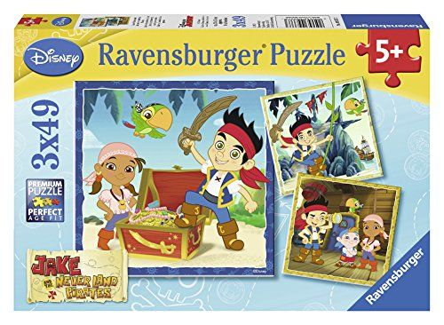 From 3.99 Ravensburger Jake And The Never Land Pirates Puzzles (3 X 49 Pieces)