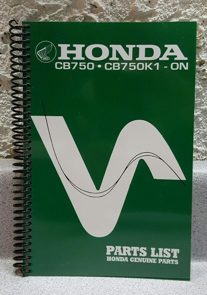 Ebay Sponsored Honda Cb750 Parts Manual Early Sandcast Models Onward Spiral Binding