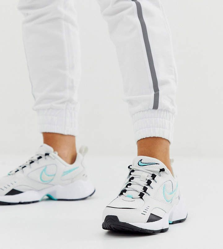 Nike White And blue Air Heights Sneakers #Sponsored , #AD