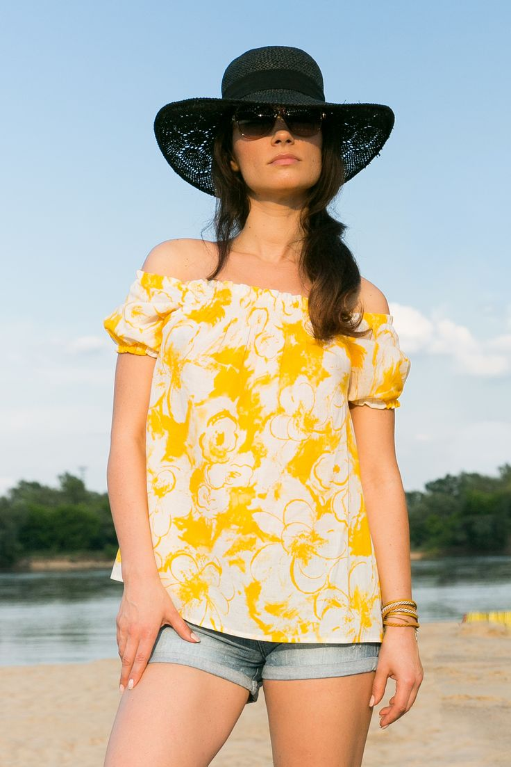 Yellow flower Top by The Same - mom & child wear #summer #yellow #sale