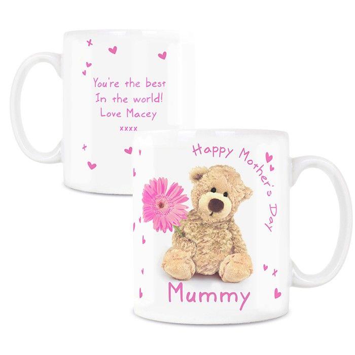 Teddy Flower Mug - £10.99 Free UK Delivery
