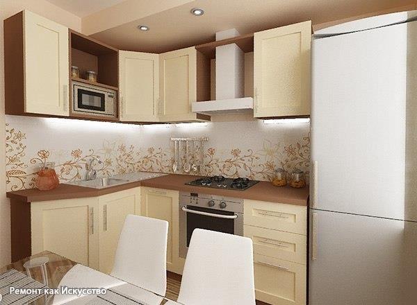 Как разместить мебель на кухне, если пространство не позволяет воплотить самые интересные идеи? Советы дизайнера помогут сделать комфортной и функциональной кухню, площадь которой составляет всего 6 квадратных метров.    Оформить маленькую кухню так, чтобы хватило места для приготовления и приема пищи, а интерьер был гармоничным и стильным – возможно! Главное – придерживайтесь основных правил обустройства малометражной кухни