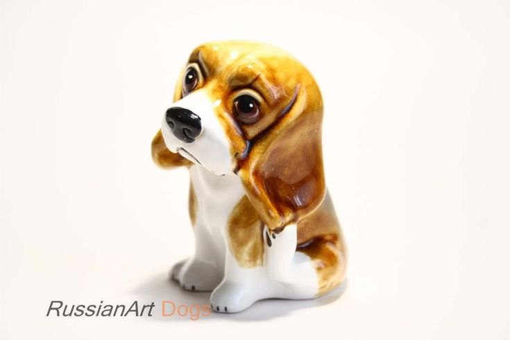 Beagle - Funny Pawls series, dogs ceramic figurine handmade statuette by RussianArtDogs on Etsy