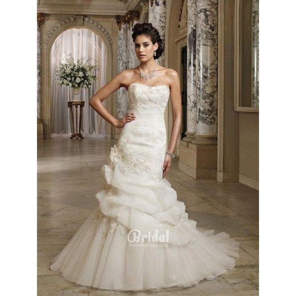 strapless organza a line dress