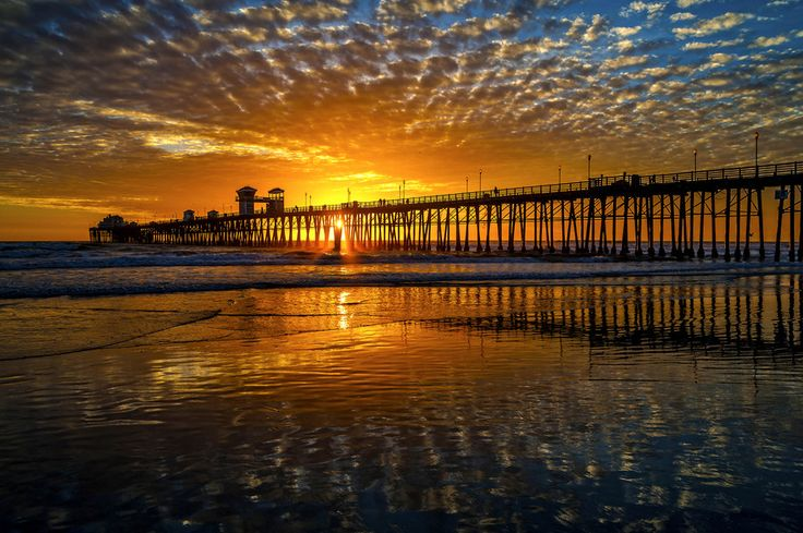 Sunset at the Oceanside Pier - March 3, 2014 by Rich Cruse ...