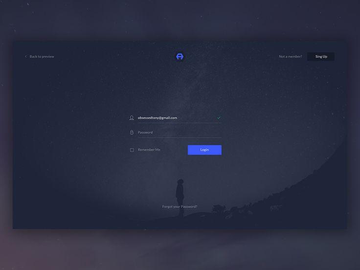 #ui #desktop #dribbble Desktop Login Form