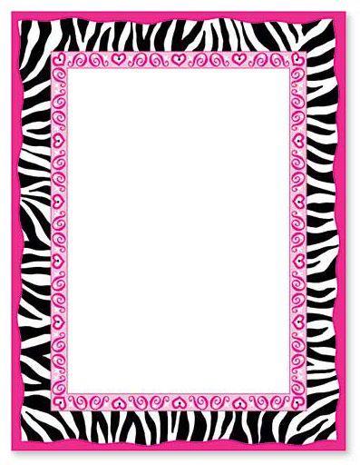 Zebra Print Border Bordas Pinterest Zebra Print And