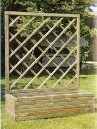 maceta jardinera trepadora de madera