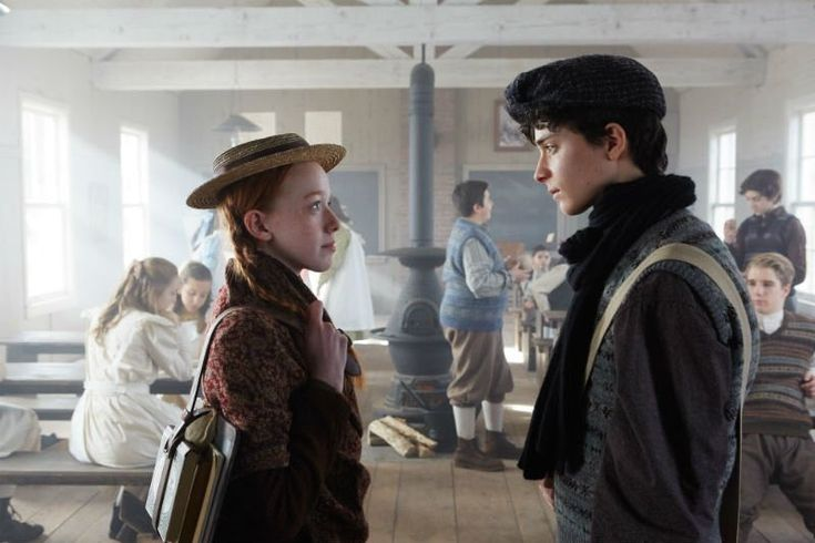 """Anne and Gilbert! I *love* these two and this series """"Anne"""" (2017) #Annetheseries #CBC #AmybethMcNulty #LucasZumann"""