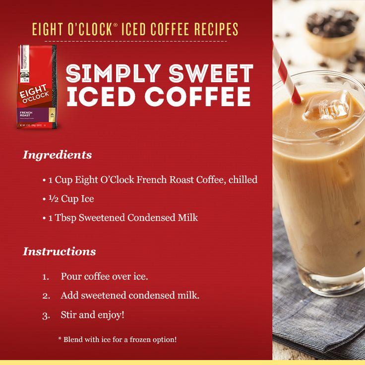Mr Coffee Coffee Maker Smells Like Plastic : Simply Sweet Iced Coffee The Eight O Clock Coffee Bar Pinterest Coffee and Coffee drinks