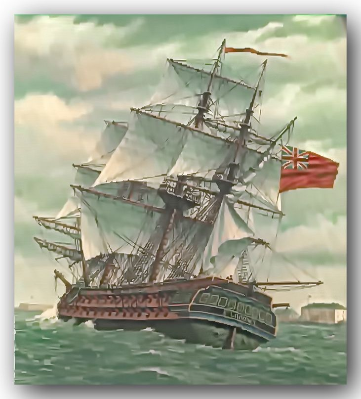 Ships Canada Us Wide Wood Sign: HMS St Lawrence (1814) 112-gun First-rate Wooden Warship