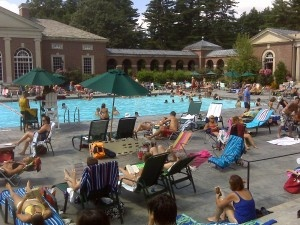 Victorian Pool - in #Saratoga Spa State Park. Relax by the pool and eat a delicious lunch at Catherines in the Park.