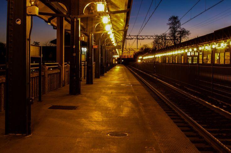 Sunset Down the Station, South Orange NJ • Framed Print by HashtagSBJAX on Etsy