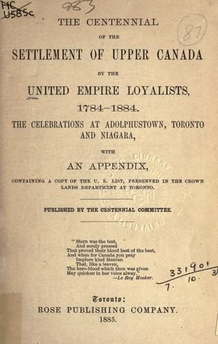 the history of settlement and migration of loyalists to nova scotia Loyalist settlement in nova scotia halifax at the outbreak of the american revolution in 1776, two-thirds of the people of nova scotia were of yankee birth or parentage.